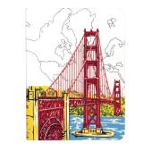 San Francisco Golden Gate Handmade Journal - фото обкладинки книги