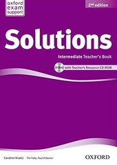 Solutions 2nd Edition Intermediate: Teacher's Book with CD-ROM (книга для вчителя) - фото обкладинки книги
