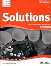 Solutions 2nd Edition Pre-Intermediate: Workbook with CD-ROM (Ukrainian Edition) (аудіо-) - фото обкладинки книги