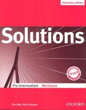 Solutions Pre-Intermediate. Workbook (Ukrainian Edition) - фото обкладинки книги
