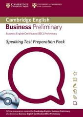 Speaking Test Preparation Pack for BEC Preliminary: Paperback with DVD - фото обкладинки книги