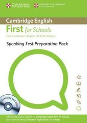 Speaking Test Preparation Pack for First for Schools: Paperback with DVD - фото обкладинки книги