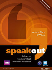 SpeakOut Advanced Student Book + DVD+ MEL (підручник) - фото обкладинки книги
