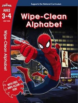 Spider-Man: Wipe-Clean Alphabet. Ages 3-4 - фото книги
