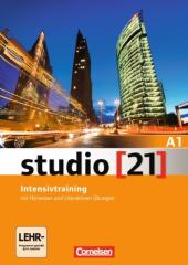 Studio 21 A1. Intensivtraining mit CD und Lerner DVD-ROM (посібник з грам. та лексичної практики+CD +DVD-ROM) - фото обкладинки книги