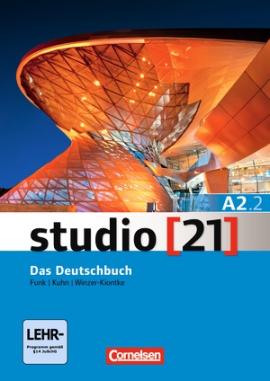 Studio 21 A2/2. Deutschbuch mit DVD-ROM (підр. з інтегрованим роб.зошитом+інтер.диск.Част.2) - фото книги