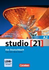 Studio 21 A2. Deutschbuch mit DVD-ROM (підручник з інтегрованим роб.зошитом+інтерактивний диск) - фото обкладинки книги