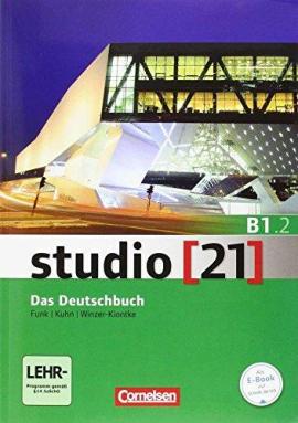 Studio 21 B1/2. Deutschbuch mit DVD-ROM (підр. з інтегрованим роб.зошитом+інтер.диск.Част.2) - фото книги