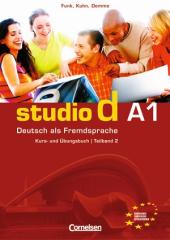 Studio d A1/2. Kurs- und Ubungsbuch mit CD. Розділи 7-12 (підручник+роб.зошит+аудіодиск) - фото обкладинки книги