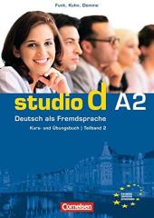 Studio d A2/2. Kurs- und Ubungsbuch mit CD. Розділи 7-12 (підручник+роб.зошит+аудіодиск) - фото обкладинки книги