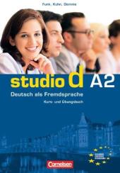Studio d A2. Kurs- und Ubungsbuch mit CD (підручник+роб.зошит+аудіодиск) - фото обкладинки книги
