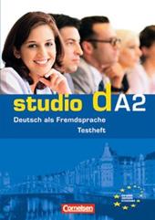 "Studio d A2. Testvorbereitungsheft A1 und Modelltest ""Start Deutsch 2"" Mit CD (тестові завдання + аудіодиск) - фото обкладинки книги"