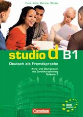 Studio d B1/1. Kurs- und Ubungsbuch mit CD. Розділи 1-5 (підручник+роб.зошит+аудіодиск) - фото обкладинки книги