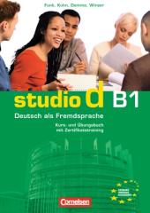 Studio d B1. Kurs- und Ubungsbuch mit CD (підручник+роб.зошит+аудіодиск) - фото обкладинки книги
