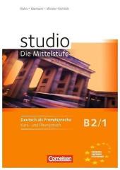 Studio d B2/1. Kurs- und Ubungsbuch mit CD (підручник+роб.зошит+аудіодиск) - фото обкладинки книги