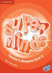 Super Minds Level 4 Teacher's Resource Book with Audio CD - фото обкладинки книги