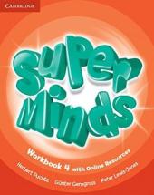 Super Minds Level 4 Workbook with Online Resources - фото обкладинки книги