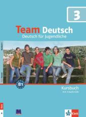 Team Deutsch 3 Kursbuch + Audio CDs - фото обкладинки книги