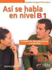 Tema a tema - Curso de conversacion : Asi se habla en nivel B2 - Cuaderno de - фото обкладинки книги