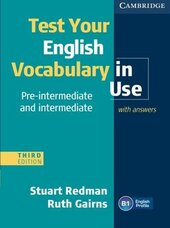 Test Your English Vocabulary in Use Pre-intermediate and Intermediate with Answers - фото обкладинки книги