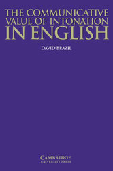 The Communicative Value of Intonation in English Book - фото обкладинки книги