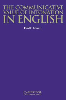 The Communicative Value of Intonation in English Book - фото книги
