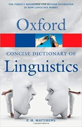 The Concise Oxford Dictionary of Linguistics - фото обкладинки книги