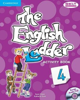 The English Ladder Level 4 Activity Book with Songs Audio CD - фото книги