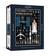 The History of Space Travel Puzzle: Astronomical 500-Piece Jigsaw Puzzle & Poster (Pop Chart Lab) - фото обкладинки книги