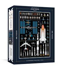 The History of Space Travel Puzzle: Astronomical 500-Piece Jigsaw Puzzle & Poster (Pop Chart Lab) - фото книги