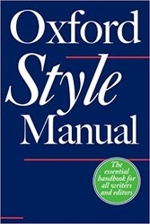 The Oxford Style Manual - фото обкладинки книги