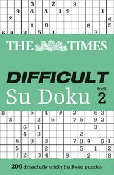The Times Difficult Su Doku Book 2 : 200 Challenging Puzzles from the Times - фото обкладинки книги