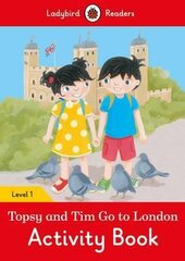 Topsy and Tim: Go to London Activity Book - Ladybird Readers Level 1 - фото обкладинки книги