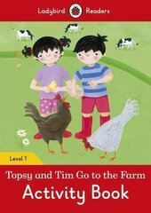Topsy and Tim: Go to the Farm Activity Book - Ladybird Readers Level 1 - фото обкладинки книги