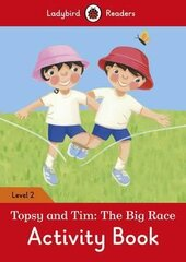 Topsy and Tim: The Big Race Activity Book - Ladybird Readers Level 2 - фото обкладинки книги