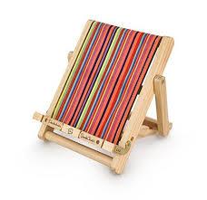 Тримач для книг Deckchair Bookchair Deluxe Medium Stripy - фото книги