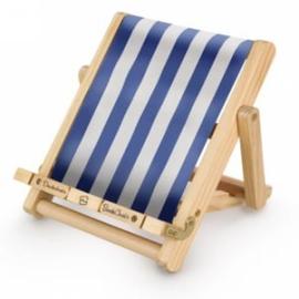Тримач для книг Deckchair Bookchair Stripy Blue - фото книги