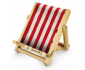 Тримач для книг Deckchair Bookchair Stripy Red - фото книги