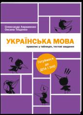 Українська мова. Правопис у таблицях, тестові завдання - фото обкладинки книги