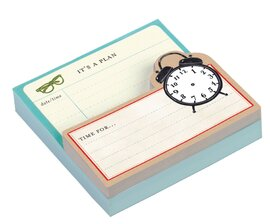 Vintage Clock Shaped Memo Pads - фото книги