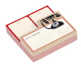 Vintage Telephone Shaped Memo Pads - фото книги