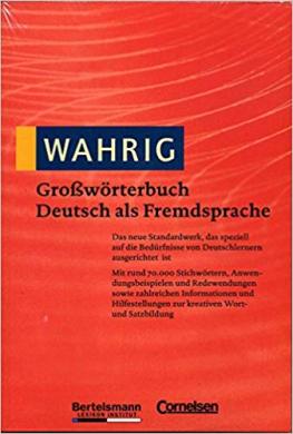 Wahrig Growrterbuch Deutsch als Fremdsprache (словник) - фото книги