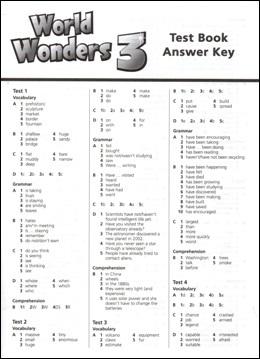 World Wonders 2. Test Book Answer Key (відповіді до тестів) - фото книги