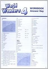 World Wonders 4. Workbook Answer Key (відповіді до робочого зошита) - фото обкладинки книги