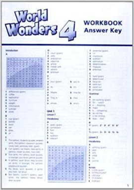 World Wonders 4. Workbook Answer Key (відповіді до робочого зошита) - фото книги