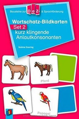 Wortschatz-Bildkarten - Set 2: kurz klingende Anlautkonsonanten (картки) - фото книги
