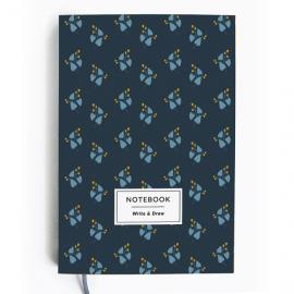 Write&Draw. Blue flowers - фото книги