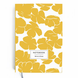 Write&Draw. Yellow flowers - фото книги