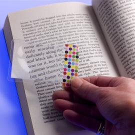 Збільшувальна лінза Flexible Magnifier Wallet Size Dots - фото книги