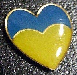 Значок Блакитно-жовте Серце - фото книги